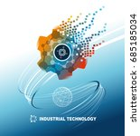 world industrial technology... | Shutterstock .eps vector #685185034