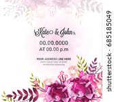 save the date  wedding... | Shutterstock .eps vector #685185049
