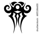 tattoo tribal vector design.... | Shutterstock .eps vector #685186600
