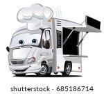 cartoon food truck isolated on... | Shutterstock .eps vector #685186714