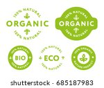 collection of green healthy... | Shutterstock .eps vector #685187983