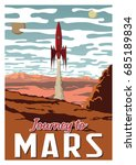 journey to mars. vector... | Shutterstock .eps vector #685189834