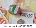 euro coin with national flag of ... | Shutterstock . vector #685192870