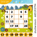 education numbers game for... | Shutterstock .eps vector #685193794
