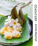 Small photo of Steamed Flour with Coconut Filling – Kanom Sai Sai ahd The thai toddy palm cake