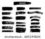 set of black paint  ink brush... | Shutterstock .eps vector #685195834