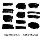 set of black paint  ink brush... | Shutterstock .eps vector #685195903