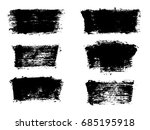 set of black paint  ink brush... | Shutterstock .eps vector #685195918