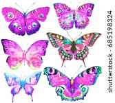 beautiful pink butterfly... | Shutterstock . vector #685198324