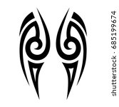 tribal tattoo art designs.... | Shutterstock .eps vector #685199674