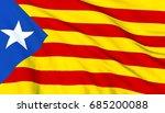 flag od catalonia   estelada... | Shutterstock . vector #685200088