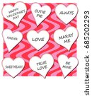 hearts with wavy background... | Shutterstock . vector #685202293