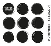 black circle frames of thick... | Shutterstock .eps vector #685202704