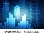 2d rendering stock market... | Shutterstock . vector #685202833