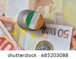 euro coin with national flag of ...   Shutterstock . vector #685203088