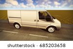 white van traveling on the... | Shutterstock . vector #685203658