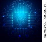 hi technology microprocessor... | Shutterstock .eps vector #685205314