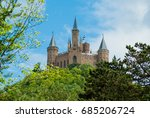 castle hohenzollern on the blue ... | Shutterstock . vector #685206724