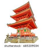 red pagoda of kiyomizu temple...   Shutterstock . vector #685209034