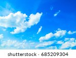 the blue sky with clouds ... | Shutterstock . vector #685209304