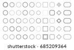 set abstract geometric shapes ... | Shutterstock .eps vector #685209364