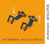 abdominal muscles exercises man ... | Shutterstock .eps vector #685212928