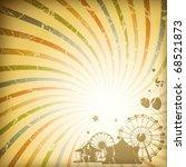 retro sunburst background | Shutterstock .eps vector #68521873