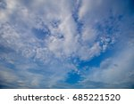blue sky with cloud | Shutterstock . vector #685221520