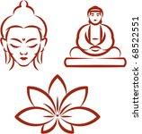 buddha and lotus  symbols of... | Shutterstock .eps vector #68522551