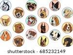vector illustration  set of... | Shutterstock .eps vector #685232149