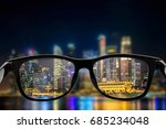 eye glasses looking to night... | Shutterstock . vector #685234048