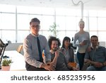 portrait of young business... | Shutterstock . vector #685235956