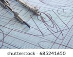 drawing and compasses | Shutterstock . vector #685241650