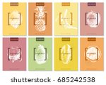 bright 8 posters collection... | Shutterstock .eps vector #685242538