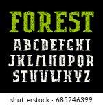 serif font in sport style.... | Shutterstock .eps vector #685246399