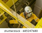 working at height. a commercial ... | Shutterstock . vector #685247680