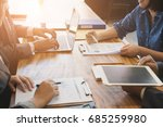 group of young business people... | Shutterstock . vector #685259980