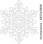 outlines of snowflake in mono... | Shutterstock .eps vector #685263808