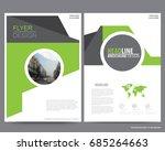 abstract vector modern flyers... | Shutterstock .eps vector #685264663
