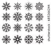 set of snowflake winter...   Shutterstock .eps vector #685266244