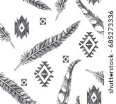 vintage seamless pattern with... | Shutterstock .eps vector #685273336
