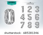 set of numbers technology is a... | Shutterstock .eps vector #685281346