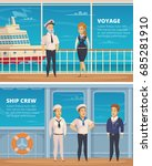 yacht voyage ship crew members... | Shutterstock .eps vector #685281910