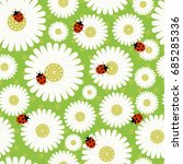 Seamless Pattern With Daisies ...