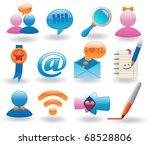 Social Media Icons Set For Web...