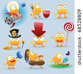 funny emoticons set for web... | Shutterstock .eps vector #68528809