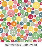 seamless sewing buttons... | Shutterstock .eps vector #68529148