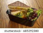 corn cheese sandwich | Shutterstock . vector #685292380