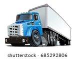 cartoon semi truck. available...   Shutterstock .eps vector #685292806