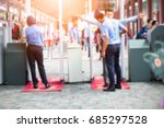 blurred airport security check... | Shutterstock . vector #685297528